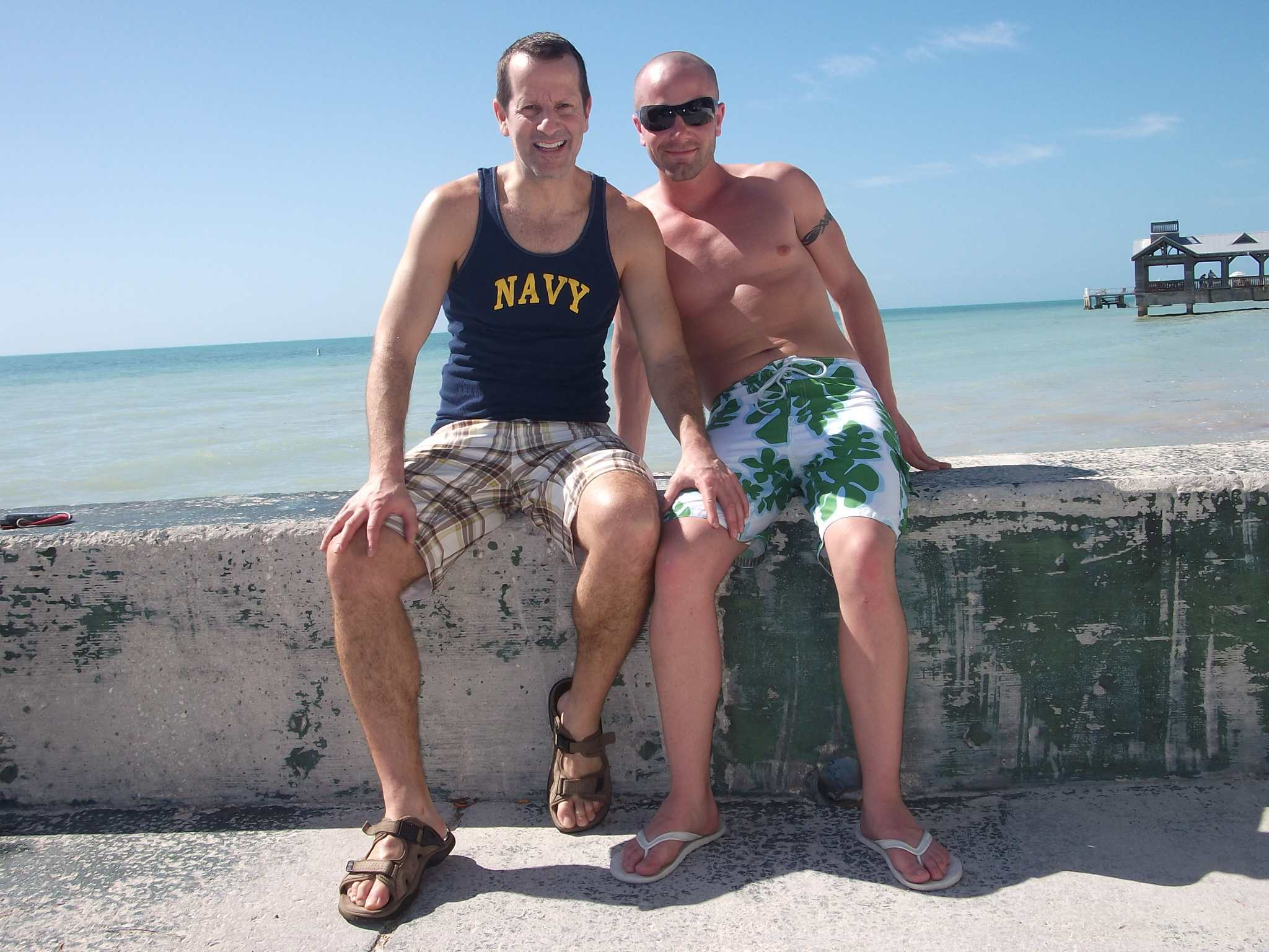 That's me, left, and friend Michael in Key West