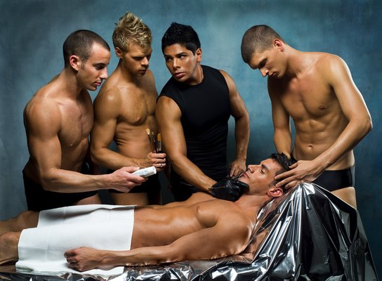 Gay muscle men massage