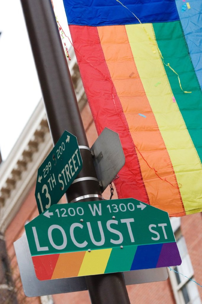 Philly's gayborhood. Photo: J. Smith for GPTMC