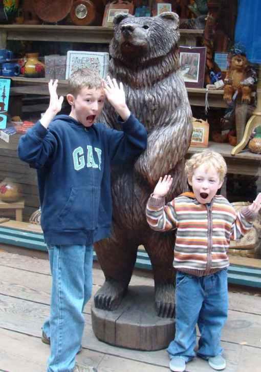 A healthy fear of bears;)