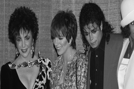 1988- Elizabeth Taylor, Liza Minnelli and Whitney Houston attended a benefit at the Sheraton Centre honoring Michael Jackson