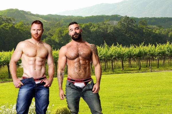 #Gaywine hunks