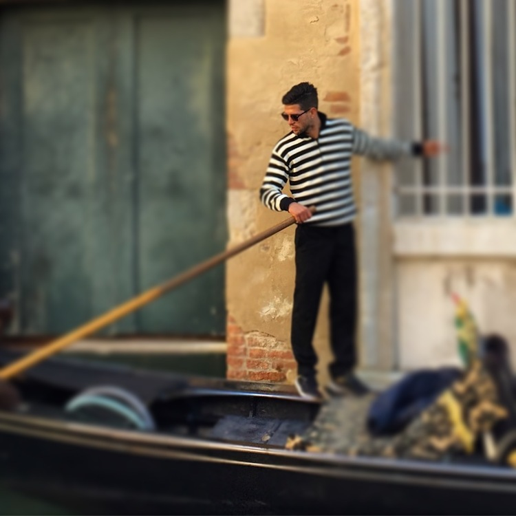 A handsome gondolier, Venice