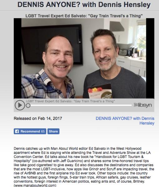 Ed Salvato on Dennis Hensley's podcast, Dennis Anyone?